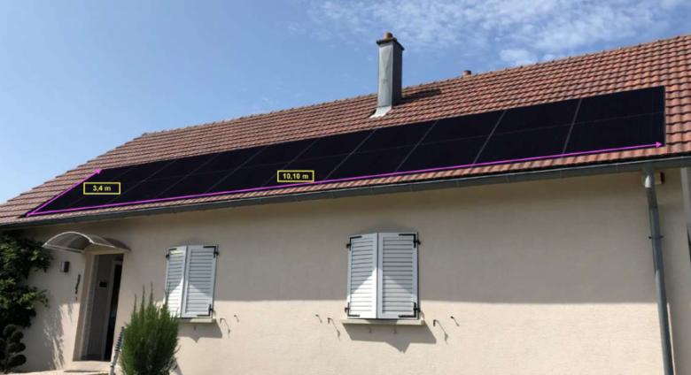 Image d'une installation solaire à Besançon