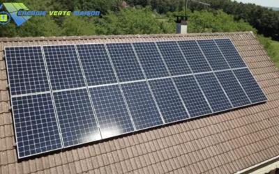 Le Creusot : Installation photovoltaïque Sunpower