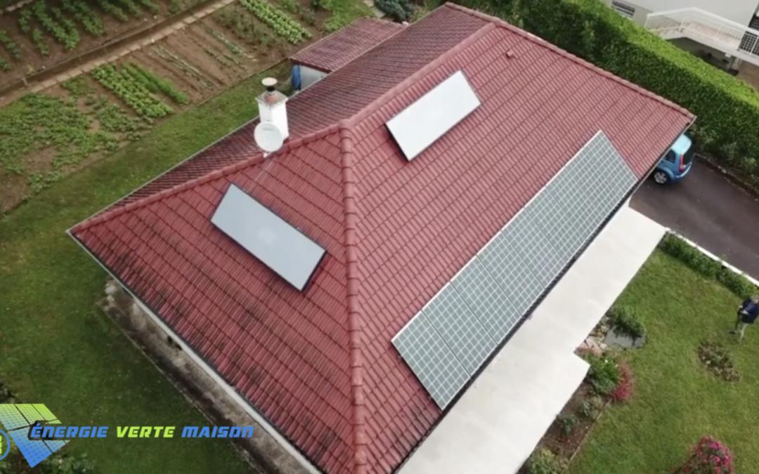 Double installation : Chauffage solaire et panneaux photovoltaïques