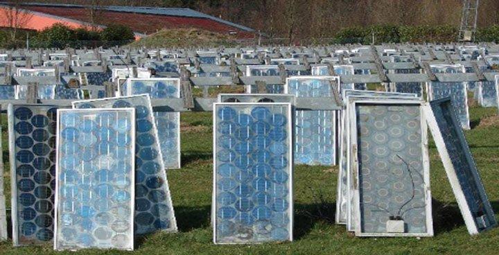 Image de presentation du recyclage des panneaux photovoltaiques